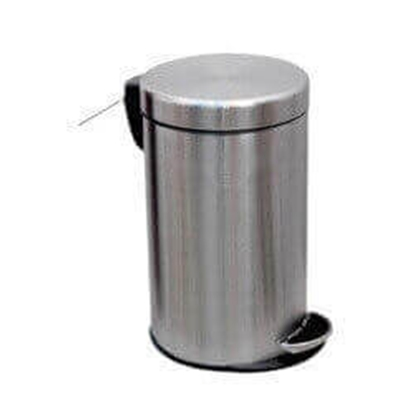 """Stainless Steel Dustbin With Pedal Operated Lid - 10"""" X 18"""""""