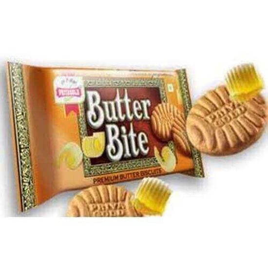 Priyagold Butter Bite Cookies - 200 Gm Pouch