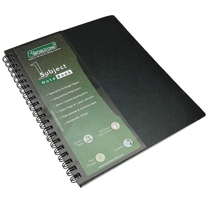 WorldOne A/5 Spiral Notebook Single Subject - WPP1312