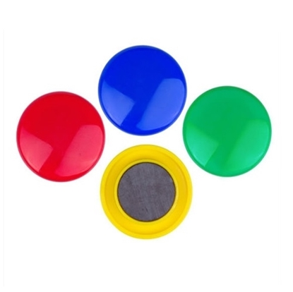 Round Presentation Whiteboard Magnetic Button Large Pack of 5