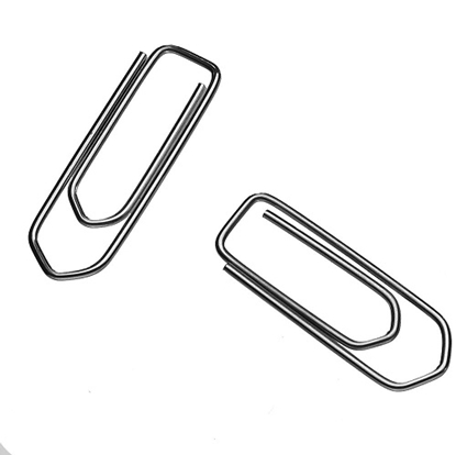 Paper Clips Nickel Plated - 30 Mm