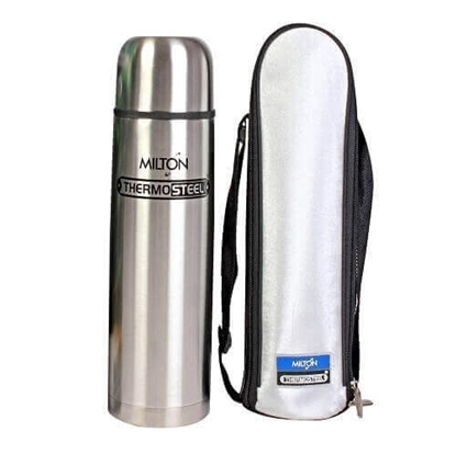 Milton Thermosteel Flip Lid Flask, 1000ml, Silver