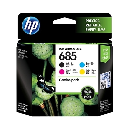 HP 685 4-Pack (CMYK) Original Ink Advantage Cartridge