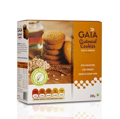 Gaia Oatmeal Cookies - 200Gm