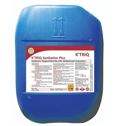 KTRiQ Sanitation Plus Sodium Hypochlorite Solution 25 Litre